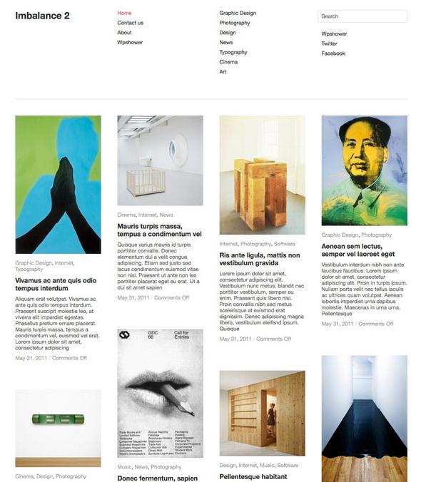 imbalance2 portfolio wordpress theme
