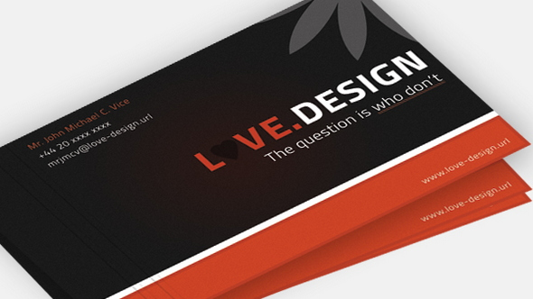 Love Design Business Card