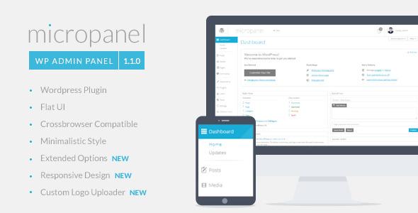 Micropanel - FLAT WordPress Admin Theme