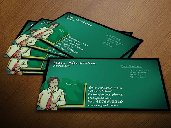 professor-business-card-psd