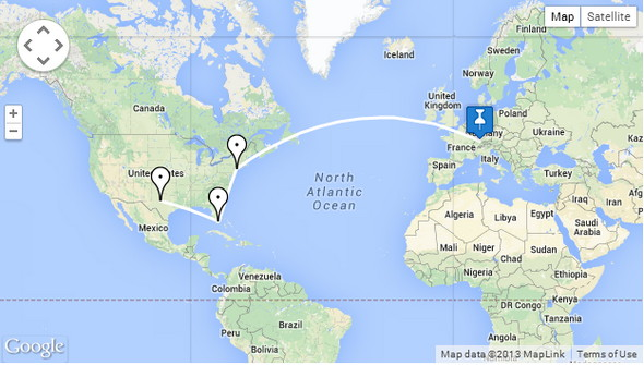 Google Maps Travel Route