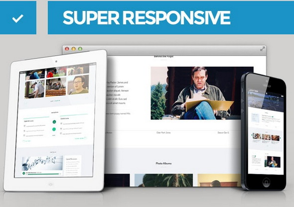 One Page Responsive church template