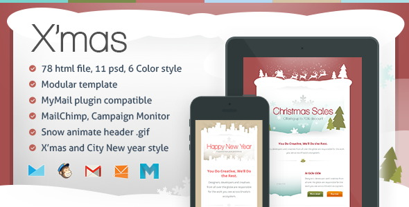 xmas responsive email template