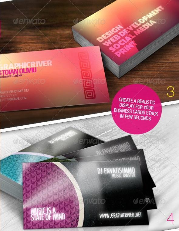 10 Realistic Business Card Mock-up Pack Bundle