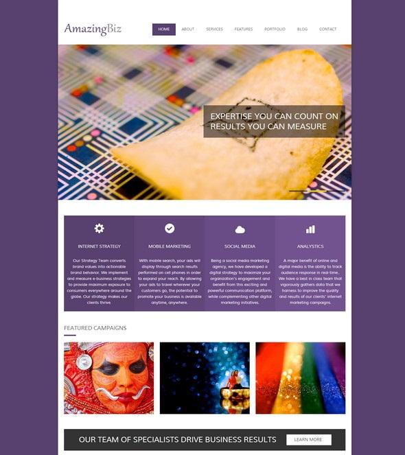 AmazingBiz Free HTML5 Responsive Template