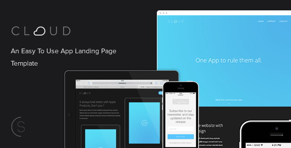 An Easy To Use App Landing Page