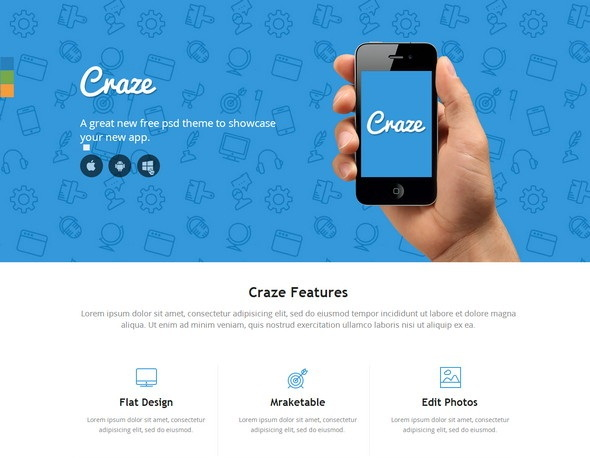 Craze Website Template