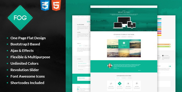 Flat One Page Bootstrap3 Template
