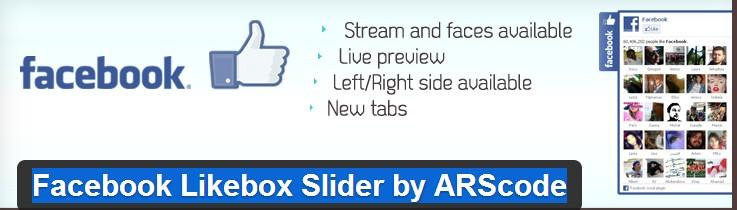 Facebook Likebox Slider Plugin