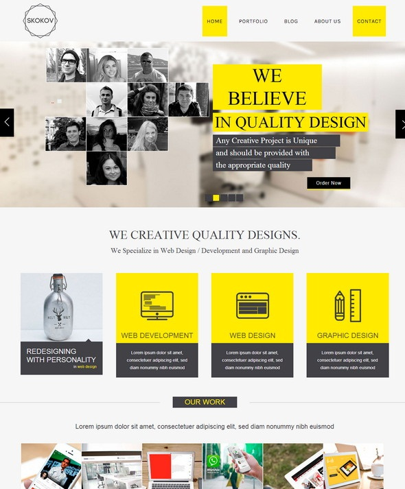 Free HTML Business Website Template