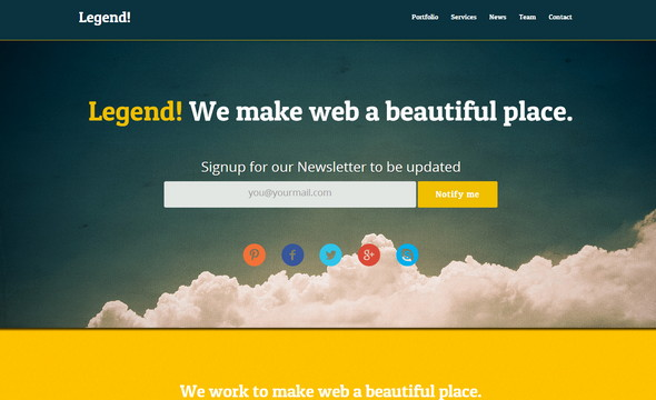 Legend - One Page Bootstrap Template