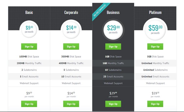 Modern Pricing Table With HTML and CSS