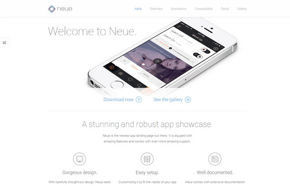 Neue. Stunning App Showcase.
