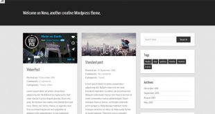 creative Wordpress theme.