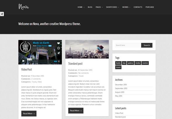 creative WordPress theme.