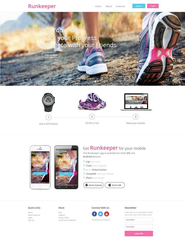 Runkeeper Website Template
