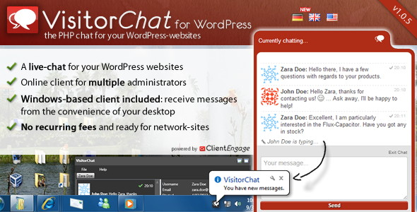 ClientEngage Visitor Chat for WordPress
