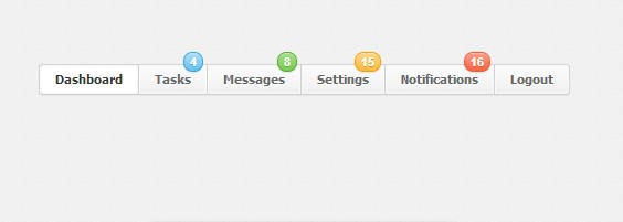 badge navigation menu