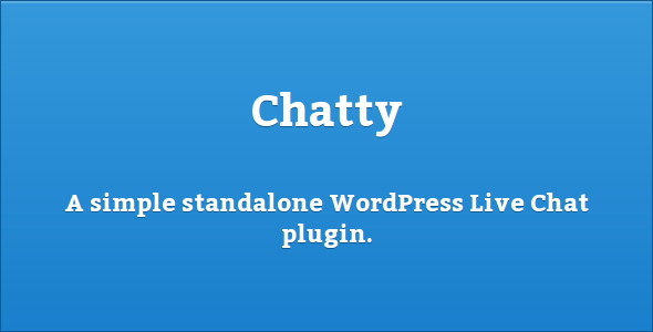 Chatty - Simple Live Chat Plugin for WordPress