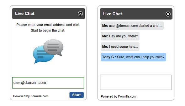 Free wordpress Formilla Live Chat