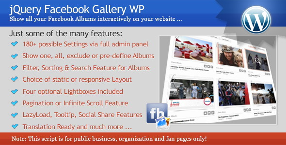 jQuery Facebook Gallery WP