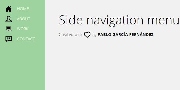 Side html css navigation menu
