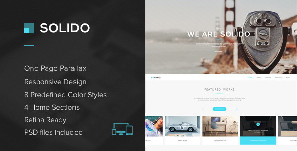 Responsive One Page Parallax Template