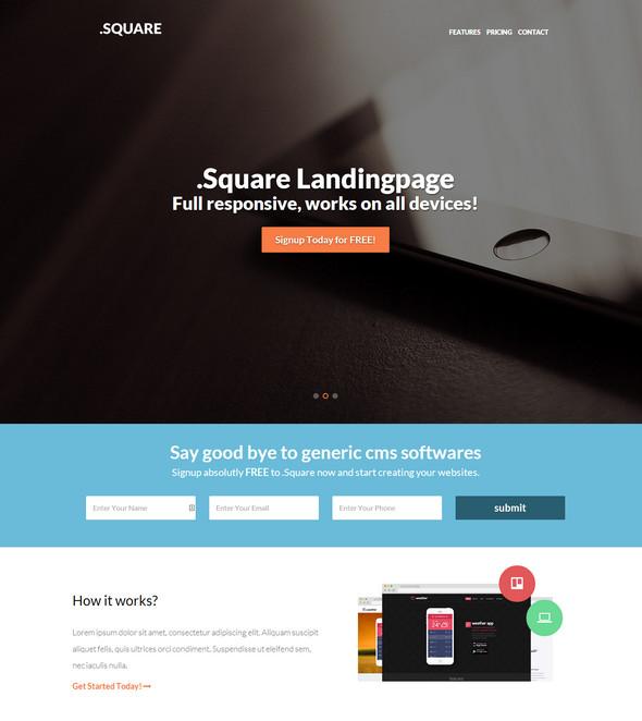 dotsquare responsive landing page