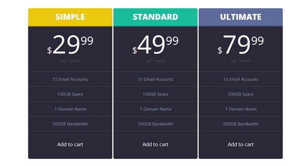 standard price list