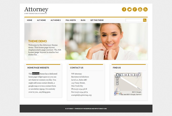 Attorney WordPress Theme for Law Firm Websites