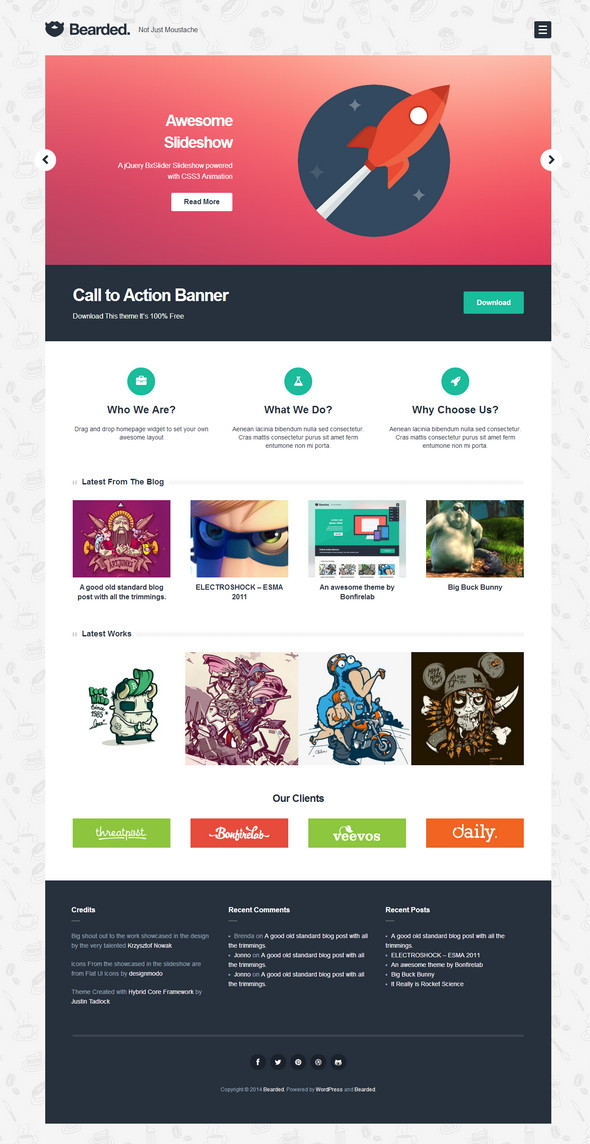 free wordpress theme for technology and creative websites