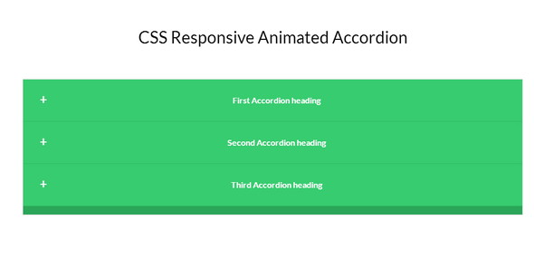 CSS Responsive Animated Accordion
