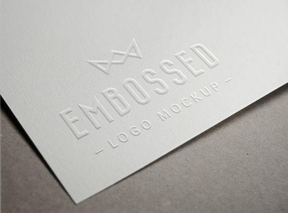 Embossed Paper Logo MockUp in psd format