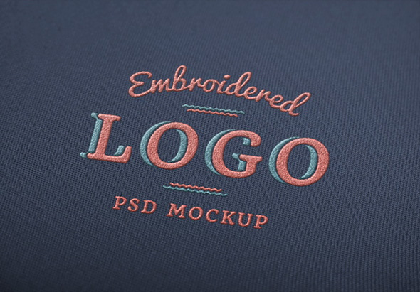 Embroidered Logo MockUp with free psd