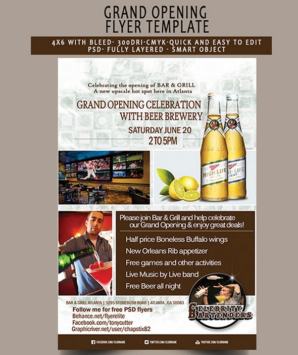 Free PSD Grand Opening Flyer