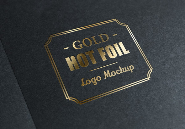 uv spot foil effect for logos with psd