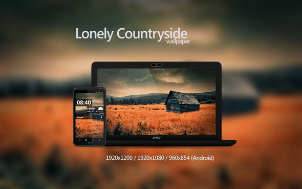 Lonely Countryside wallpaper