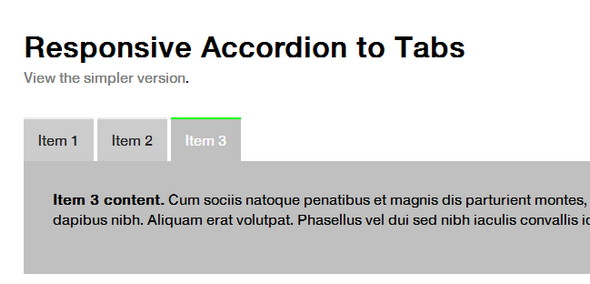 Responsive Accordion to Tabs