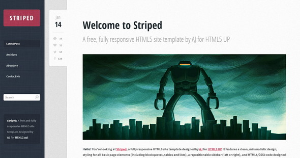 Striped HTML5