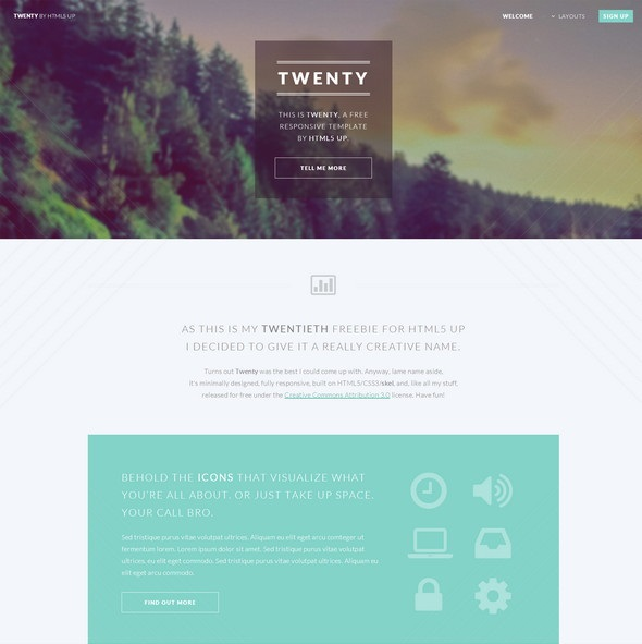 Twenty HTML5