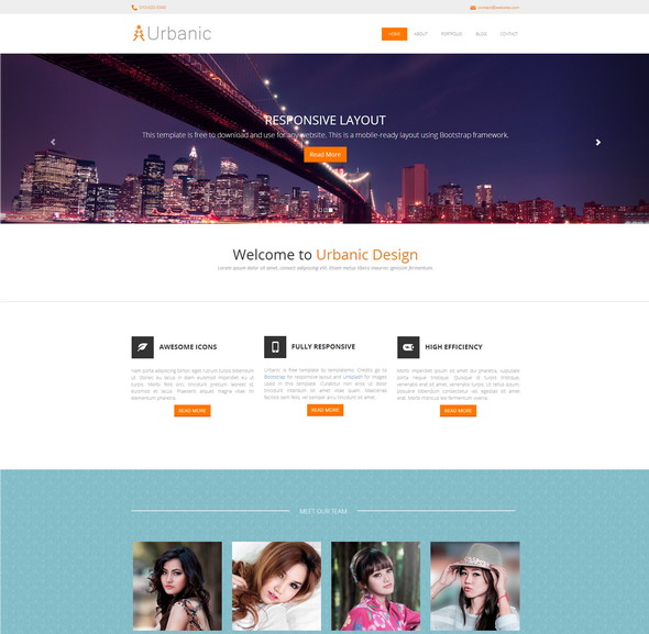 Urbanic Bootstrap Template