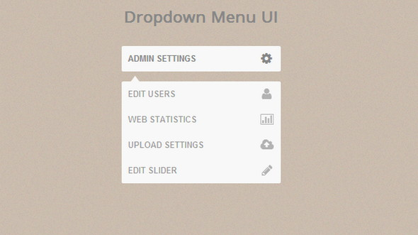 dropdown menu ui