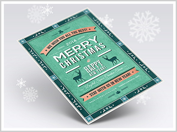 free-retro-christmas-and-new-year-flyer-by-digital-space
