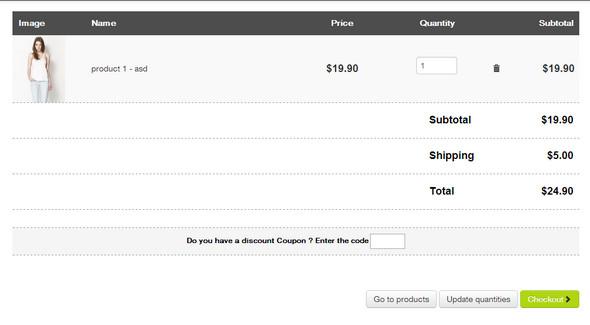 Bootstrap Shopping Cart Pack