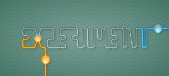 Chemistry Tubes Text Effect