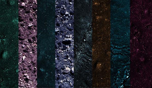 Color asphalt textures