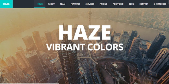 HAZE - Responsive Website Template