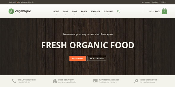 HTML Template For Organic Shop
