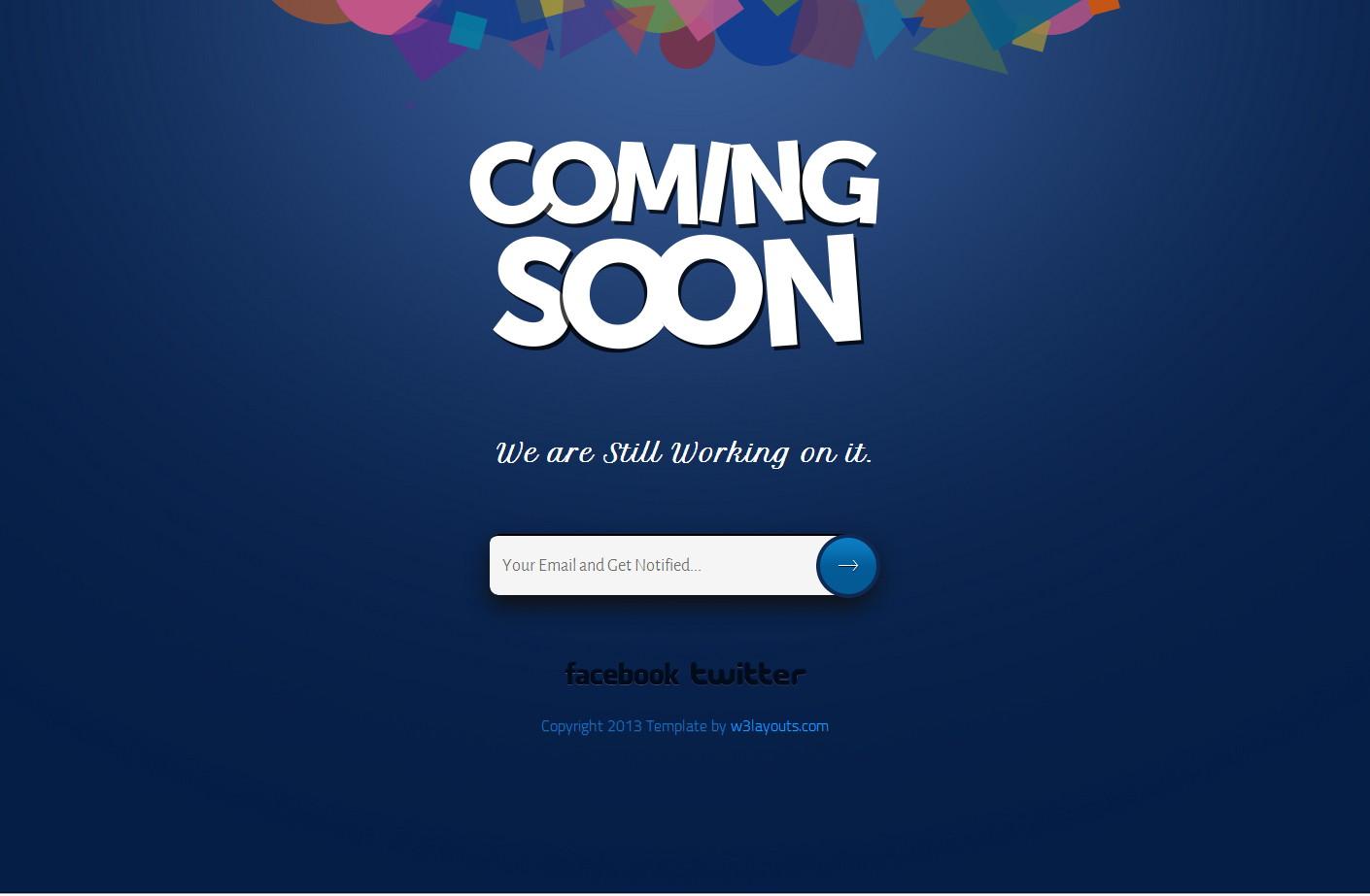 coming soon Website