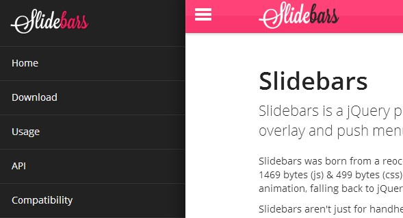 jquery navigation menu sidebar